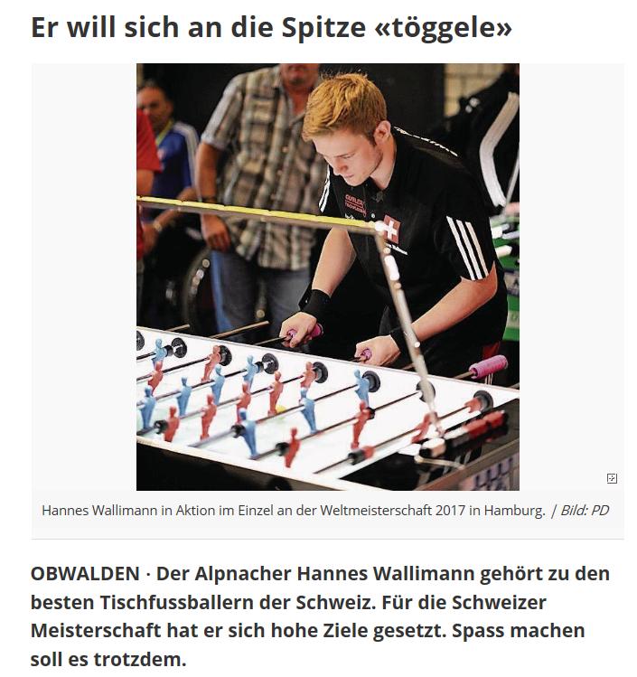 Ausschnitt aus dem Onlinemagazin der Luzerner Zeitung.