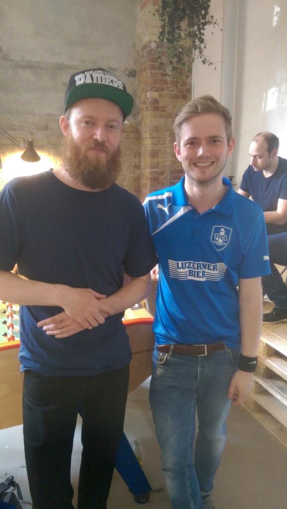 Hannes mit dem sympathischen Töggeli-Star aus Dänemark