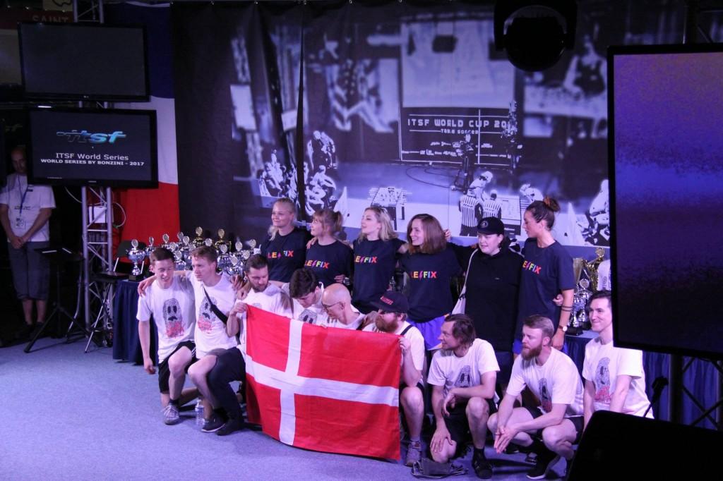 Das dänische Nationalteam an der Bonzini-WS.