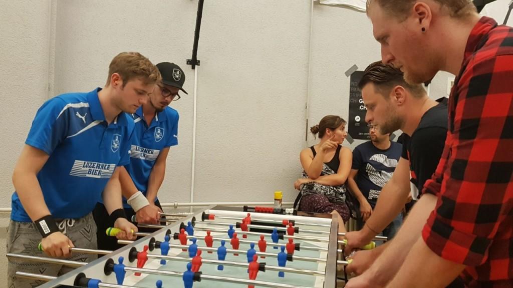 Adrian und Hannes gegen Marco und Daniel (Bild: An)