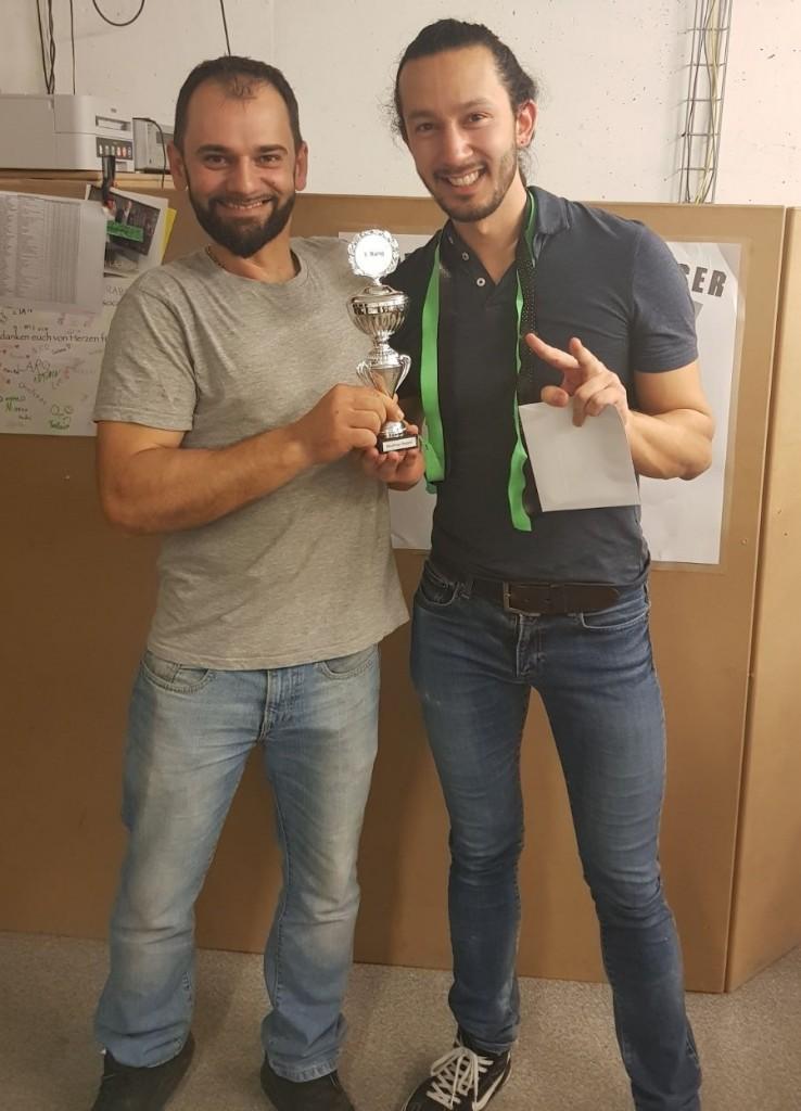 Wilson und Michel mit dem Pokal im Neulinge Doppel (Foto: Salzi).