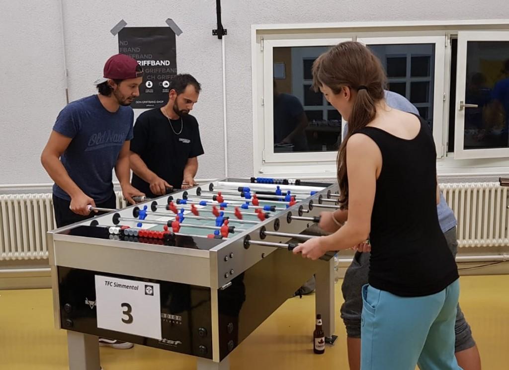 Finale Neulinge Doppel: Michel und Wilson gegen Esther und G.. (Bild: An)