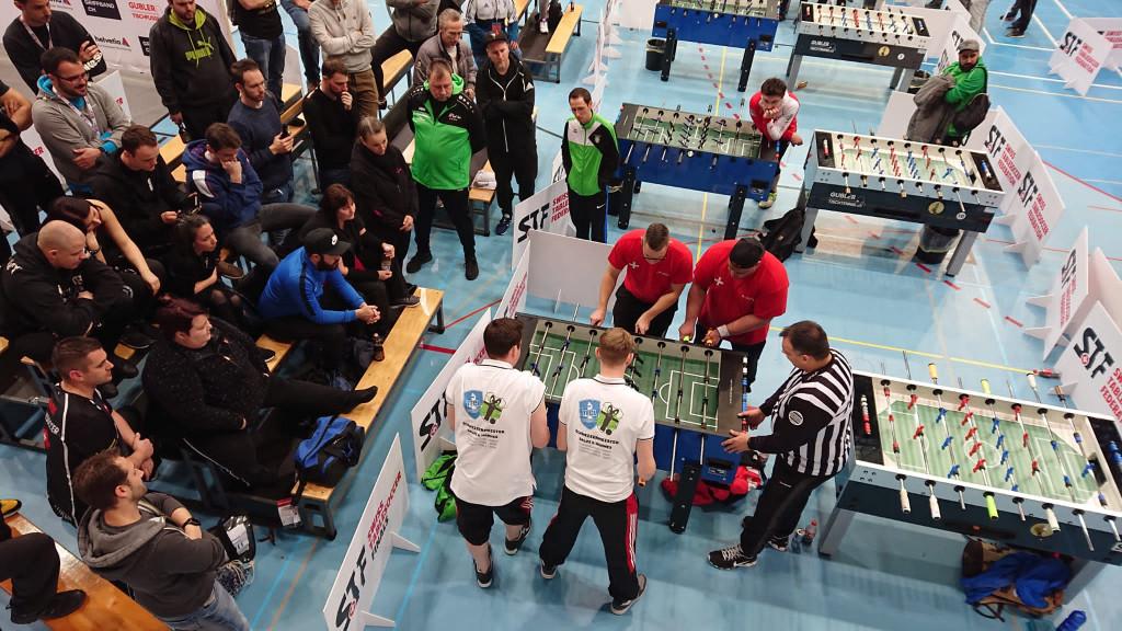 Hannes und Salzi im Viertelfinale des Herren-Doppels (Bild: An).